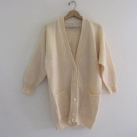 vintage oversized wool sweater. button up sweater. oversized cardigan sweater.