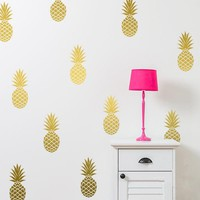 Removable Pineapples Wall Decal Large 12 Pineapples Sticker Nursery Wall Decal Party Decor Free Shipping