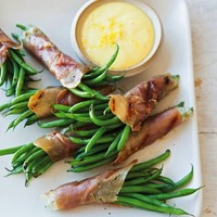 Prosciutto-Wrapped Haricots Verts with Lemon Aioli