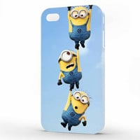 Minion Despicable Me Funny Three Minion iPhone 4 | 4s Case, 3d printed IPhone case