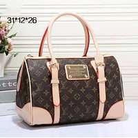 Louis Vuitton LV Women Leather Mini Luggage Travel Bags Tote Handbag