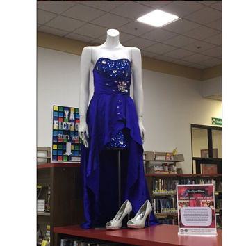 Royal Blue High Low Prom Dress Evening Party Gown pst0695