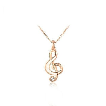 Shiny Stylish Gift New Arrival Jewelry Music Necklace [9260905799]