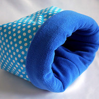 cosy cuddle sack / sleeping bag for guinea pigs - XXL (points on turquoise/royal blue)