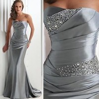 Stock Charming Sweetheart Chiffon Formal Party Evening Long Prom Dress Size:6-16