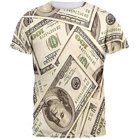 Money All Over Adult T-Shirt