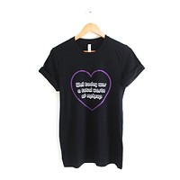 Waste of Makeup Heart Black Graphic Unisex Tee