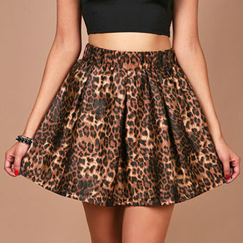 Retro Leopard Skirt | Trendy Skirts at Pink Ice