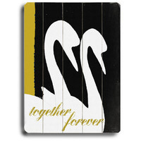 Together Forever by Artist Lisa Weedn Wood Sign