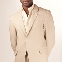 Linen Monaco Jacket - Pure Linen, Fully Lined Tailored Suits for Men - Island Importer