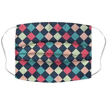 Checkerboard Pattern Face Mask Cover