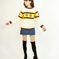 60s Charlie Brown Sweater / S M L