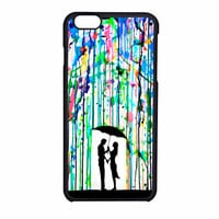 Love Song Romantic In The Rain Paint iPhone 6 Case
