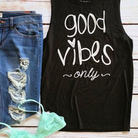 Good Vibes Only Graphic Tank Top