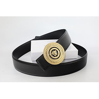 New Versace Belt Medusa Buckle Leather Men's Belt505