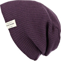 Purple ribbed knit beanie hat - hats - accessories - men