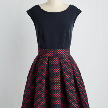 Mid-length Sleeveless Fit & Flare London and Done Dress