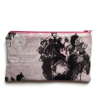 Pencil Case, Small Zippered Pouch, Make Up Bag, Epi Pen Case, Evil Queen Pencil Case, Evil Queen Make Up Bag