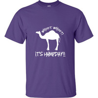 Guess What Day It Is HumpDay Funny T-Shirt Tee Shirt TShirt Mens Ladies Womens Youth Shirt Gifts Funny Camel Hump Day Middle Week Tee DT-060