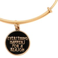Alex and Ani Everything Happens for a Reason Expandable Wire Bangle Rafaelian Gold