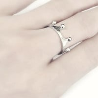 Sterling Silver Crown Ring, Quality Solid 925 Sterling Silver Rings, Silver King Ring