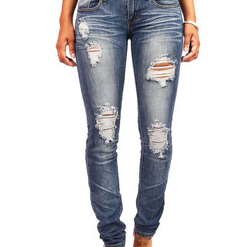 Jaded Torn Skinnys
