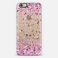 Pink Black White Confetti Explosion iPhone 6 case by Organic Saturation | Casetify