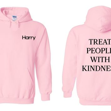 Harry Styles - Harry Logo / Treat People With Kindness Back Hoodie Sweatshirt