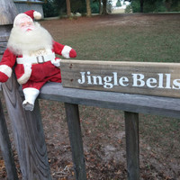 Jingle Bells Sign | Pallet Wood Sign | Christmas Decor | Christmas Pallet Sign | Christmas Sign | Farmhouse Christmas Decor