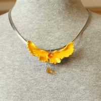 Golden Yellow Fantasy Fairy Wings with Swarovski Crystals