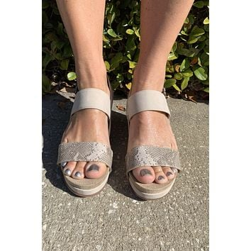 Let It Slide Wedge- Taupe