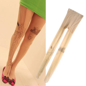 Gun & Pistol Tattoo Transparent Legging
