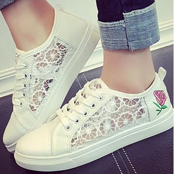 New hot sale fashion rose round toe rubber mesh shoes