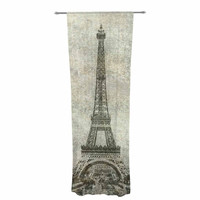 "Bruce Stanfield "" Vintage Paris"" Mixed Media Travel Decorative Sheer Curtain"