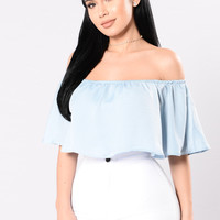 The Fashionista Top - Baby Blue