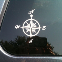 Nautical Compass car sticker  FREE SHIPPING by CatButtStickers