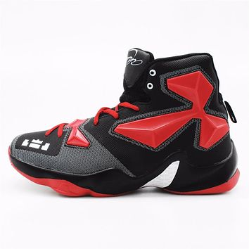 2016 Men's High Quality Sneakers Red Black and White Basketball Boots Indoor Basketball Shoes #FBS2000R