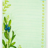Blueberry To-Do List Notepad