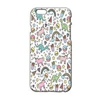 Cute Animals and Food Pattern Plastic Phone Case for Iphone 6 plus