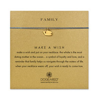 family whale ocean silk necklace, gold dipped - Dogeared