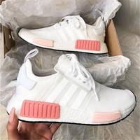 Adidas NMD Fashion Sneakers Trending Running Sports Shoes Whtie-pink From Particular