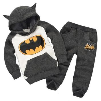 Batman Boys Girls Clothing Sets Children's Winter Clothes Baby Boy's Girl's Kids Suits Tracksuits Hoodies Sweatshirts + Trousers