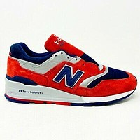 New Balance 997 Connoisseur Ski Red Mens Sneakers Made in USA M997CSIY
