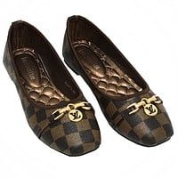 LV Louis Vuitton hot sale vintage print ladies sandals boat shoes casual shoes