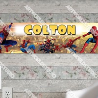 Personalized/Customized Spiderman #2 Poster, Border Mat and Frame Options Banner 202-2
