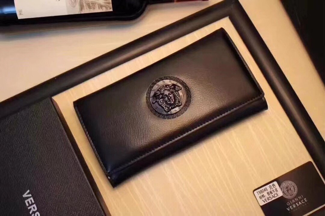 Image of VERSACE MEN'S NEW STYLE LEATHER HAND BAG WALLET
