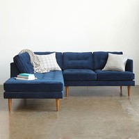 Peggy Mid-Century Terminal Chaise Sectional