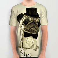 Pug; gentle pug (color version) All Over Print Shirt by Barruf