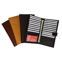 Genuine Leather Bifold Credit Card Holder Wallet With Snap 1629 CF (C)