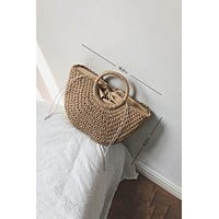 Chicnico Fashion Hand-woven Straw Tote Bag